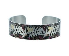 Leaf jewellery narrow cuff bracelet in brushed by DeCumiDesigns