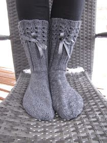 Hand made by Aino P. Crochet Socks, Knitting Socks, Crochet Stitches, Knit Crochet, Stocking Tights, Boot Cuffs, One Color, Colour, Knitting Patterns