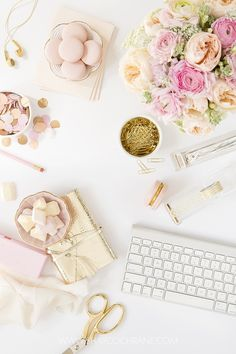 Blush pink styled desktop stock image by Shay Cochrane. Follow the @scstockshop on Instagram to find out when it hits the Stockshop shop! Styled photography for creative business owners. www.shaycochrane.com