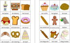 Deze woordweb in het thema bakker kun je downloaden op de website van Juf Milou.