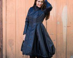 Maxi Hooded Wool Coat Cloak 100% Cashmere Maxi Cashmere | Etsy Hooded Wool Coat, Hooded Jacket, Maxi Coat, Coat Dress, Peplum Jacket, Plus Size Coats, Swing Coats, Flattering Dresses, Winter Coat