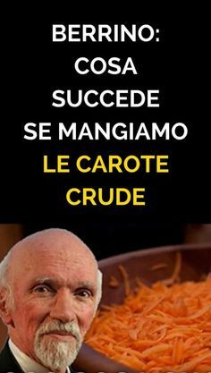 Cosa succede se mangiamo le carote crude? È meglio mangiare verdure cotte o crude? Il dottor Franco Berrino in questo video dell'Associazione di Healthy Cooking, Healthy Tips, Healthy Eating, Healthy Recipes, Natural Life, Natural Health, Health And Wellness, Health Fitness, Organic Cleaning Products
