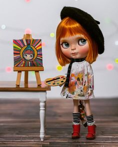 Adorable art Blythe!