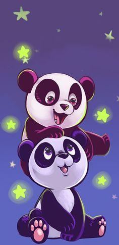 Pin by cheryl hallett on bears panda Cute Panda Wallpaper, Bear Wallpaper, Animal Wallpaper, Panda Wallpapers, Cute Cartoon Wallpapers, Cartoon Drawings, Cute Drawings, Cute Panda Drawing, Cute Winnie The Pooh
