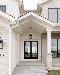 Exteriors - Oakstone Homes Stone Exterior Houses, Dream House Exterior, Stone Houses, Dream Home Design, My Dream Home, House Design, Charleston Homes, Modern Farmhouse Exterior, Exterior Remodel