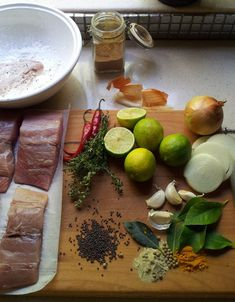 Cape Pickled Fish with Lime, Thyme & White Pepper, and a Pickled-Fish Paté, from the left-overs – Justin's Recipes Curry Recipes, Fish Recipes, Pickled Fish Recipe, Chicken Quinoa Salad, South African Recipes, Favorite Holiday, Pickles, Seafood, Avocado