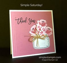Stampin' Up! Jar of Love Card, Thoughtful Branches Sentiment, Susan Itell, Stampinup