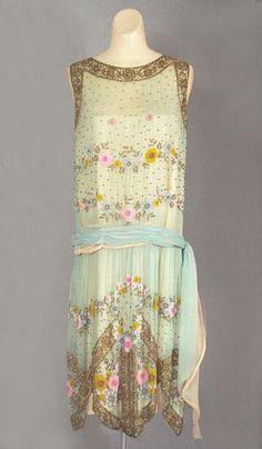 French beaded silk chiffon dress c.1924. @designerwallace