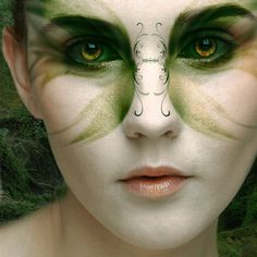I like how most of the detail work is around the eyes, yet it still brings most of the attention to the nose. I think this would be a unique take on fairy makeup as it usually highlights the eyes.