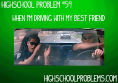 Haha this is me with my brother in the car! We listen to music really loud and do this!!!