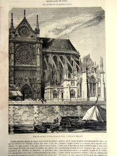 Hey, I found this really awesome Etsy listing at https://www.etsy.com/listing/178571094/1850-vintage-cathedral-notre-dame-de
