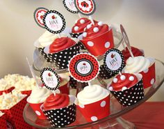 Little lady cupcake toppers wrappers set ladybug cupcake ladybug. Baby Ladybug, Ladybug Party, Ladybug Decor, Party Kit, Party Packs, Ladybug Cupcakes, Kitty Cupcakes, Snowman Cupcakes, Baby Shower Printables