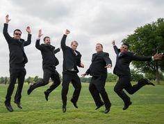 fun shot with groomsmen