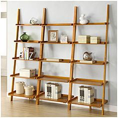 @Overstock - This unique oak leaning ladder shelf set will make a stylish addition to any room in your home. With five tiers, this shelf set provides storage or placement for decoration. http://www.overstock.com/Home-Garden/Oak-Five-tier-3-piece-Leaning-Ladder-Shelf-Set/5288908/product.html?CID=214117 $225.79