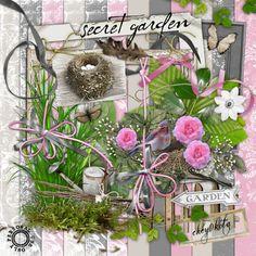 Digital Scrapbook Kit  Secret Garden over 180 items by cheyOkota, $4,49