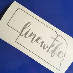 Hey, I found this really awesome Etsy listing at https://www.etsy.com/uk/listing/536743887/linewife-state-decal-state-decal-lineman