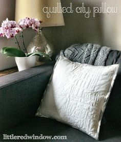 Quilted City Pillow: A map quilted into a pillow!  Such a sweet and sentimental gift!