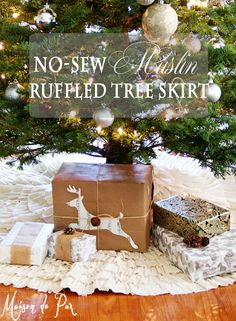 ruffled tree skirt sign