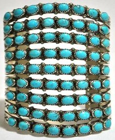 Navajo Turquoise Sterling Silver Cuff Bracelet, LOVE!