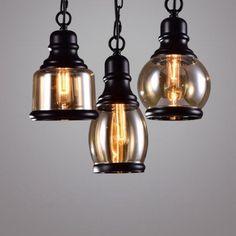 34.69$  Watch now - https://alitems.com/g/1e8d114494b01f4c715516525dc3e8/?i=5&ulp=https%3A%2F%2Fwww.aliexpress.com%2Fitem%2FChrome-Pendant-Lights-E27-110v-220v-For-Decor-Luminaire-Suspendu-Pendant-Light-Industrial-Lighting-Led-Loft%2F32763158255.html - Loft Pendant Light Industrial Style Glass Pendant Lamps Bar/Restaurant Light Retro Lamparas Colgantes Black and Amer Luminaire 34.69$