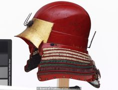 Armour (tosei gusoku) red lacquered. Japanese, Helmet Momoyama period