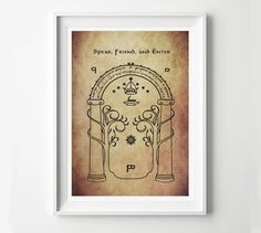 Speak Friend and Enter Lord of the Rings Movie Poster Sign, Digital Art Print, LOTR print by POSTERED on Etsy https://www.etsy.com/listing/175832784/speak-friend-and-enter-lord-of-the-rings
