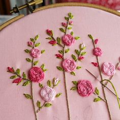 More roses. Simply roses ♡ #spiderwebstitch #roseembroidery ##자수