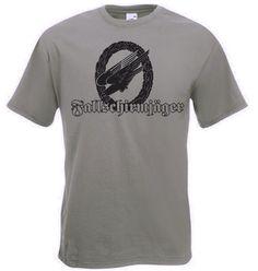 T-Shirt Fallschirmjäger mit Adler und Kranz in der Farbe oliv / mehr Infos auf: www.Guntia-Militaria-Shop.de