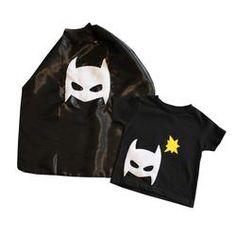 Pow - Toddler Superhero Tee & Cape Combo - Black