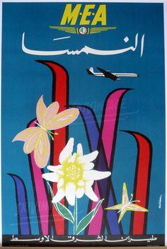 Ski en Autriche - (MEA) Middle East Airlines (1960)