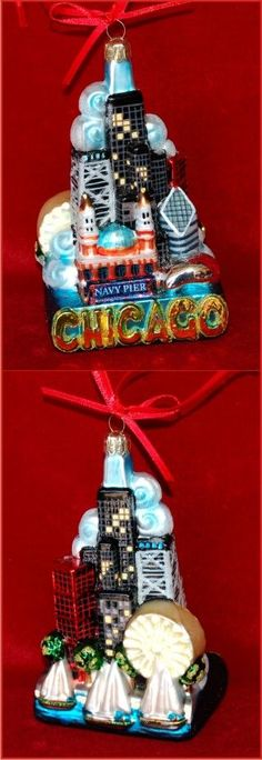 Buy Chicago Cityscape Christmas ornament by Russell Rhodes. Browse more than 3000 personalized Christmas ornaments for all occasions. Personalized Christmas Ornaments, Glass Christmas Ornaments, Christmas Gifts, Christmas Decorations, Holiday Decor, Chicago Christmas Tree, Chicago Restaurants, Winter Solstice, Screen Printing