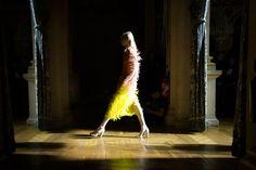 Beautiful Yellow & Pink Backstage @ Dries van Noten Fall Winter 2013 #pfw Paris #Fashion Week