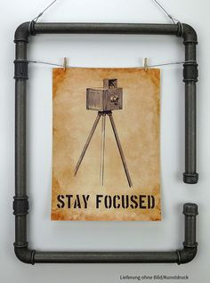 Fotorahmen No.2, Industrial Pipe picture frame, Industriedesign, ilTubo Online-Shop