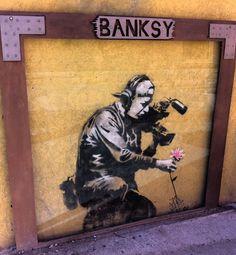 Banksy street art in Park City, Utah. Yep There is a Banksy in Park City, Utah. Saw it today.