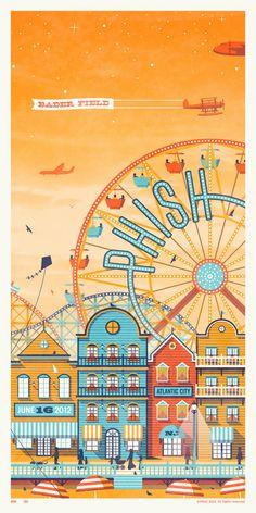 Phish // Atlantic City, NJ #Poster Series #illustration