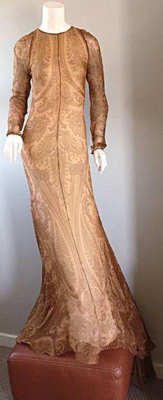 Spectacular Vintage Bill Blass Original Runway Sample Gown w/ Dramatic Train 4