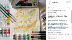 Karya : Vico Andika  POKEMON SUN AND MOON: Rowlet . Tool: Simbalion Osama Watercolor If u wanna try with simbalion
