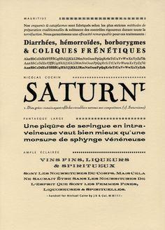 Michael Caine, typefaces in use at the atelier de la Cerisaie, Paris.