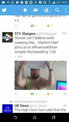 STV Glasgow tweeting about the interview #ochwedding #spreadthelove
