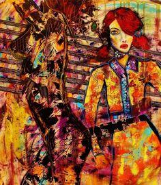 """Contemporary Painting - """"She Escapes Me"""" (Original Art from P R Z E K O P)"""