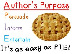 Beyond Author's Purpose ~ Analyzing Why Authors Write - This ...