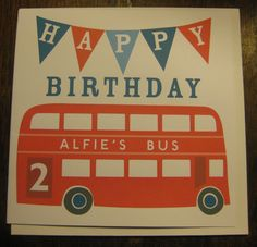 Image Detail for - Sweet Home London personalised birthday card | Bambino Goodies