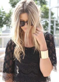 Lovely hair color. nice bracelet too :)