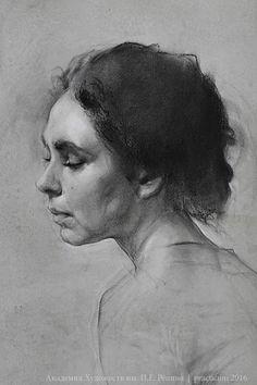 Rounds Workshop V. Portrait Sketches, Pencil Portrait, Portrait Art, Academic Drawing, Academic Art, Charcoal Sketch, Charcoal Art, Figure Sketching, Figure Drawing