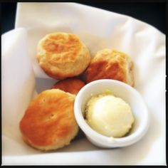 Buttermilk Biscuit with Honey Butter from Vic's on the River in Savannah, Ga.