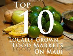 Best Food Markets on Maui! Yum. http://www.prideofmaui.com/blog/maui/local-food-markets-maui.html