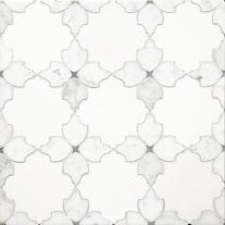 Coming Soon!!!    Delicate Gothic Design The Mystique collection, from Country Floors, draws upon history and tradition to project richness, opulence, and otherworldly elegance. The tiles in this collection, are reminiscent of a gothic Mediterranean designs. The Mystique Collection tiles ranges in shades of white, mute grey and silver, featuring different geometric patterns. The tiles are available in the standard eight by eight (8 x 8) size. Tile feature: Susana
