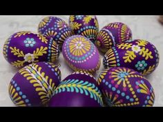 The Polish Easter eggs are painted by Krystyna Jaroc. Filming and editing done by Julia Jaroc. Polish Easter, Egg Decorating, Easter Eggs, The Creator, Make It Yourself, Youtube, Crafts, Videos, Descendants
