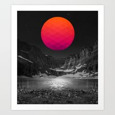 It Was Always There Art Print by Soaring Anchor Design (Abstract Moon)