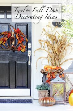 Your front door and your front porch are the most important places to decorate for fall! Read Thistlewood Farms' blog for 12 Fall Door Decorating Ideas, including some DIY projects and Kirkland's products!